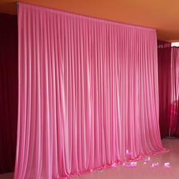 $enCountryForm.capitalKeyWord NZ - 3*6m Wedding Party Stage Celebration Background Satin Curtain Drape Pillar Ceiling Backdrop Marriage decoration Veil