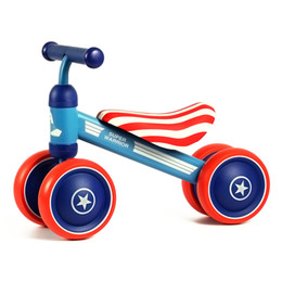 Plastic Bike Wheels NZ - Children's Bicycle Kids Balance Bike Ride On Toys For Kids Four Wheels Child Bicycle Carbon Steel Bike For Children 1-2 Years
