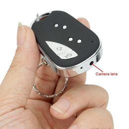 Portable Car Video Recorder NZ - Mini Car Key Camera 720*480 30fps portable Car Key-chain Camera home Security DVR digital Video recorder with retail box