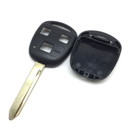 $enCountryForm.capitalKeyWord NZ - 3 Buttons Replacement key cover shell For Toyota Yaris Carina Avensis etc. remote Key case uncut toy47 key blade