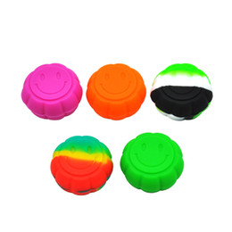 $enCountryForm.capitalKeyWord UK - Wholesale 5ML Laughing silicone dab containers Wax Pill Box Mixed Colors mini Storage Portable Travelling Free Shipping