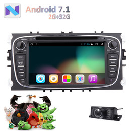 2din gps radio Canada - Back up Camera 7'' Android 7.1 Nougat Car dvd Radio Stereo Bluetooth 2G+32G GPS Navigation Double 2Din in Dash Head Unit