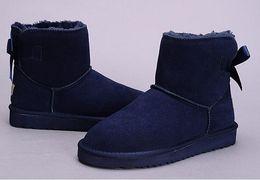 $enCountryForm.capitalKeyWord UK - HOT SALE High Quality New WGG Women's Australia Classic kneel Boots Ankle boots Black Grey chestnut navy blue Women girl boots US 5--10