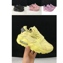 air huarache running shoes Australia - Top Quality KIDS Huarache Shoes Unisex big Kids Boys girls Men All Black Air Running Shoes Huaraches Casual Sneakers Trainer Athletics Shoes