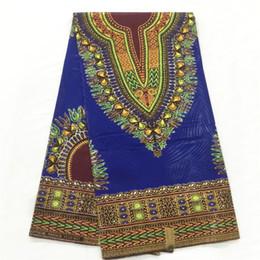 $enCountryForm.capitalKeyWord Canada - Latest african fabric for men dashiki wax print fabric high quality ankara fabric tissu cotton material 6yards per piece