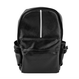 Best Bags For School UK - Casual School Sport Men PU Leather Young Men Double Shoulder Bag Backpack For Teenagers Camping Hiking Traveling Best Gift