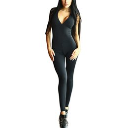 Training Jumpsuits UK - Sexy Women Yoga Workout Gym Sports Fitness tight Leggings Pants Jumpsuits Athletic Training Clothes Pants Cross Straps Bra
