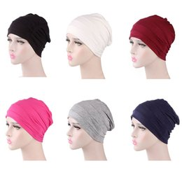 black hair costumes 2019 - New Fashion Cotton Unisex Cap for Cancer Hair Loss Sleeping Cap Chemotherapy Hat Full-headed Hat discount black hair cos