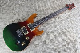 Coolest eleCtriC guitars online shopping - Cool Rainbow Finish Al Di Meola Prism Electric Guitar with Standard Bird Inlays Tremelo Bridge