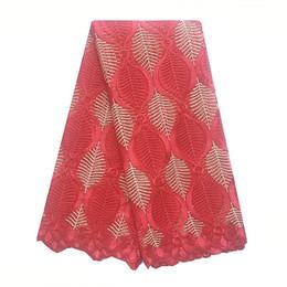 italian fabrics 2019 - African French Lace Fabric High Quality 2018 Italian Nigeria Wedding Swiss Lace Fabric Guipure Blue Red Lace Fabric chea
