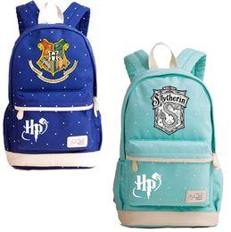 39a0e4520d59 Гарри Поттер Хогвартс холст рюкзак 10 стилей Хогвартс Слизерин Хаффлпаффец  ноутбук сумка рюкзаки студенты сумка OOA5504