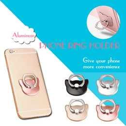 $enCountryForm.capitalKeyWord NZ - Etmakit 360 Degree Ring Cat head Ring Cute cartoon Mobile Phone Smartphone Stand Holder For all Smart Phone Luxury Couple Models