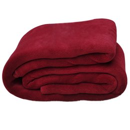 China Super Soft Warm Rug Luxury plush Fleece Throw Blanket, Suitable for Chair or Bed, Machine Washable wine red 150 x 200 cm cheap fabric weaving machine suppliers