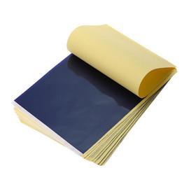 Großhandel Freies verschiffen 50 Teile / los 4 Schicht Carbon Thermoschablone Tattoo Transferpapier Kopierpapier Transparentpapier Professionelle Tattoo Supply Zubehör