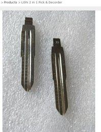 Chevy Wholesale Australia - Free Shipping 10pcs NO.39 Locksmith Repair Tool DWO4R 2 In 1 Lishi For Laser Key