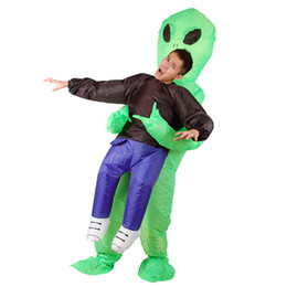 $enCountryForm.capitalKeyWord Canada - Inflatable Monster Costume Scary Green Alien Cosplay Costume for Adult Children Halloween Party Stage Performance Cloth fast shipping