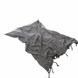 $enCountryForm.capitalKeyWord UK - Black And White Stripes Classic Fashion Tassel Cotton 1pcs Blanket Thick Throw Blanket On Sofa Bed Plane Travel Plaids Adult