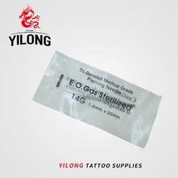 nose piercing free NZ - YILONG 14 Gauge 100PC Tattoo Piercing Needles Sterile Disposable Body Piercing Needles 14G For Ear Nose Navel Nipple Free Shipping