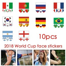 c2562c712 Face Flag Canada - 2018 World Cup Top 32 Countries Flag Temporary Tattoo  Sticker Face Body