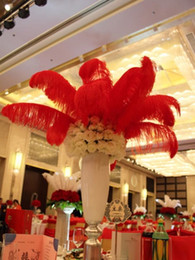 $enCountryForm.capitalKeyWord Australia - Wholesale 14-16inch(35-40cm) Red ostrich feathers plumes for Wedding centerpiece wedding Decor party supply z134