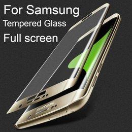 Опт Защитная пленка для экрана Samsung Note 8 S9 Plus Полное покрытие 3D Закаленное стекло для Galaxy S6 S7 Edge Plus Защитная стеклянная пленка