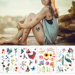 temporary body painting Australia - Flower Flamingo Butterfly Design Temporary Tattoo Sticker Body Art Painting Waterproof Party Decal for Boys Girls Arms Leg Hands Paper New