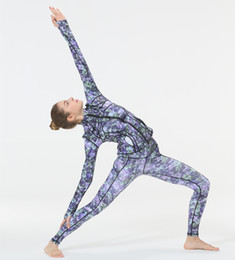 Yoga Pants Jacket Canada - Suit Yoga Serve Motion Yoga Loose Coat Woman Close Speed Do Jacket Printing Pants+jacket set