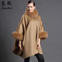 $enCountryForm.capitalKeyWord NZ - QiuMei Genuine Fur Scarves&Shawl Women Cashmere Cachecol Collar With Fox Fur Trendy Female Luxury Cashmere Shawl Ponchos&Cape