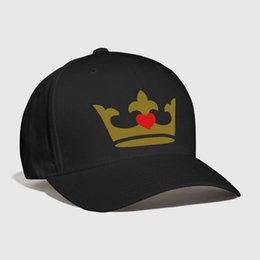 f8931add28a crown - heart Embroidery Customized Handmade Bride Groom king prince princess  queen Birthday Party Gift Idea Cool Curved Dad hat