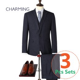 $enCountryForm.capitalKeyWord Canada - Stylish mens suits Three piece suit for man Suitable for work clothes and mens wedding suits Formal mens suits (jacket + vest + pants)