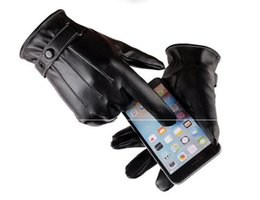 $enCountryForm.capitalKeyWord NZ - new hot selling waterproof Full finger Motorcycle Cycling Mittens Solid PU Leather Luxurious Forefinger Touch Screen Gloves