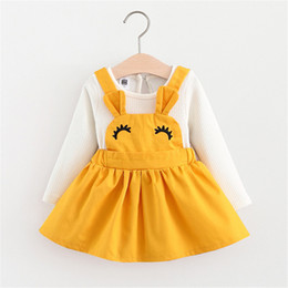 BaBy girl wedding frock online shopping - Baby girl dress princess autumn Solid dress wedding kids party dresses baby frock designs christening year birthday Gift