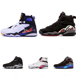 991fcfc9ef8bac 2018 8 8s VIII men basketball shoes Aqua black purple Chrome Playoff red  Three Peat 2013 RELEASE Athletic sports sneakers size 41-47