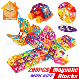 $enCountryForm.capitalKeyWord NZ - 268PCS Mini Magnetic Building Blocks Toys Construction Bricks Set DIY Educational Magnet For Kids