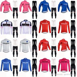 2018 TOUR OF ITALY Men team Cycling long Sleeves jersey clothing Mountain  Bike Bib Pants Set Quick Dry ropa ciclismo 5146 adaa7dc9f