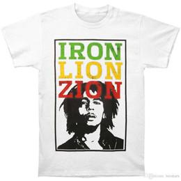 2018 Novos Homens de Verão Venda Quente Moda Bob Marley Ferro Afligido Letras dos homens T-ShirtCalça de Manga Curta Estilo Verão T-Shirt Bom venda por atacado