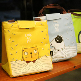 Cool tote lunCh bag online shopping - Portable bag Cooler Insulated Canvas Lunch Bag Thermal Food Picnic Lunch Bags for Women Kids Men Cooler Lunch Box Bag Tote T2I005