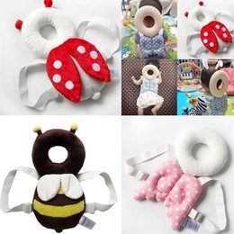 Harness Carry Toddler Australia - Cute Baby Infant Toddler Stuffed Baby Back Protector Safety Harness Headgear Cartoon Wings head Protector Guard Pillow