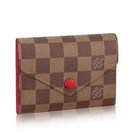 Grid Wallet UK - N41659 VICTORINE WALLET Grid pattern red Real Chain Bag LONG CHAIN WALLETS KEY CARD HOLDERS PURSE CLUTCHES EVENING