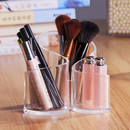 Discount lipstick racks - Acrylic organizer makeup brush Holder Cosmetic Eyeliner Lipstick Display Rack maquillage Accessor Jewelry Storage Box fo