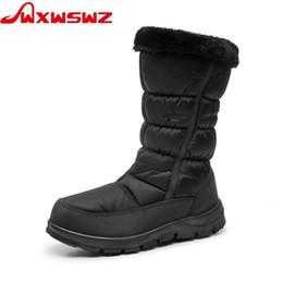 ec33269d844 WXWSWZ 2018 Winter Women Boots Mid-Calf Down Boots Plush Insole Botas Female  Waterproof Ladies Snow Woman Shoes