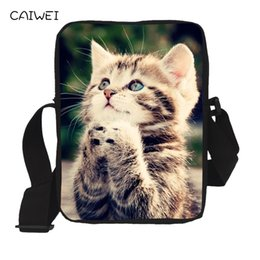 $enCountryForm.capitalKeyWord Canada - Pet Pussy Mini Messenger Bag Casual Women Handbag Cute 3D Cat Prints Kids Cross Body Bags Children Boy Girls Shoulder Book Bag