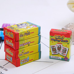 Wholesale Poke Cards Australia - Children Puzzle Toy Educational Toys Baby Learning Literacy game kids Poker Playing Cards Game Outside Outdoor Creative Travel Mini Poke