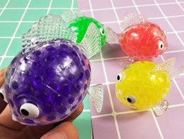 Squeezing Balls Free UK - Creative Goldfish Poo Insect Squeeze Ball Bubble Grape Squishy Anti Stress Decompression Toys Kids Gift Free Shipping