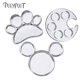 $enCountryForm.capitalKeyWord NZ - Pooypoot Nails Art Finger Ring Palette Dish Mini Metal Acrylic Nail Gel Varnish Painting Drawing Color Palette Manicure Tools