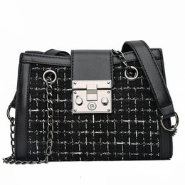 $enCountryForm.capitalKeyWord NZ - Women Handbag Designer Design PU Plaid Bag Elegant Casual Style Shoulder Bag Women Fashion Simple Atmosphere Small Handbag