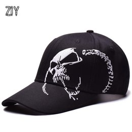 $enCountryForm.capitalKeyWord Canada - Skull Embroidery Hip Hop Streetwear Baseball Cap Bone Snapback Outdoor Sports Rapper Trucker Vintage Cotton Cap for A Boy Girl