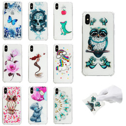 Iphone Crystal Case Australia - Soft Pattern Clear Slim Fit TPU Back Case For iPhone Xr Xs Max X Xs Air CushionShockproof Crystal Bumper