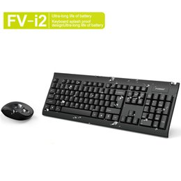 wireless keyboards colors 2019 - 2 Colors Forev FV-I2 Wireless Keyboard and Mouse Combo with USB Receiver Black White discount wireless keyboards colors