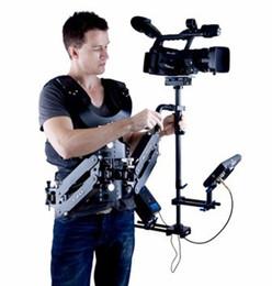 Discount camera stabilizer steadycam - WONDLAN LE401 1-7.5KG steadycam carbon fiber stabilizer arm vest DSLR camera steadicam
